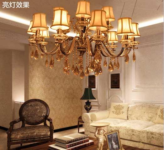 雷士照明 现代简约水晶吊灯客厅卧室书房餐厅灯饰灯具