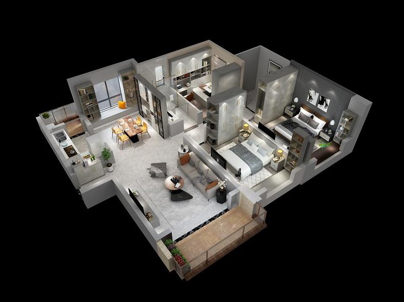 艾依格格林特系列灰色简约家具