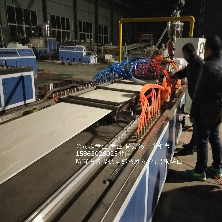 竹木纤维集成墙面生产线 PVC木塑快装墙板设备