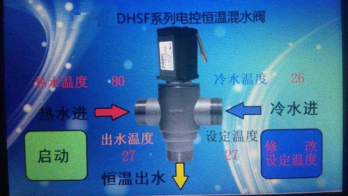 HWFD智能液晶电动恒温阀