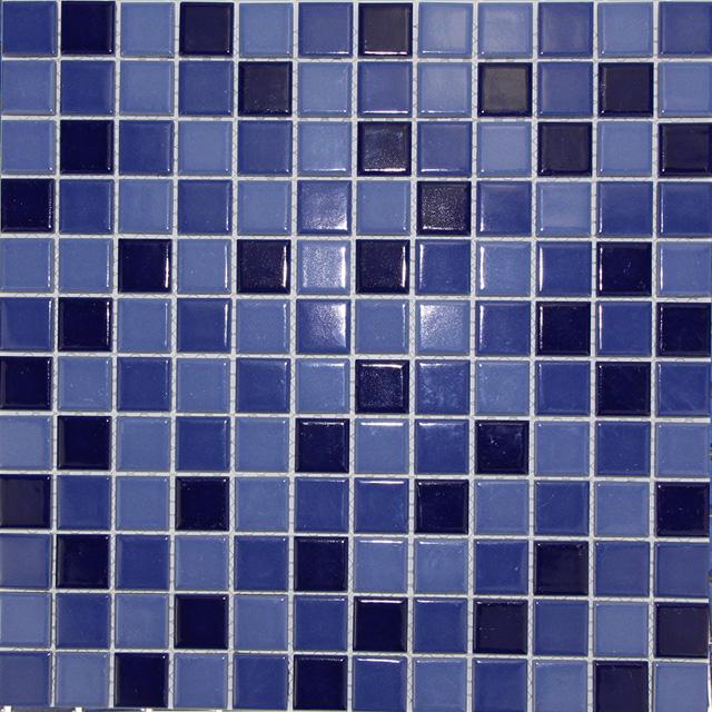 群舜泳池砖23x23mm纯色马赛克